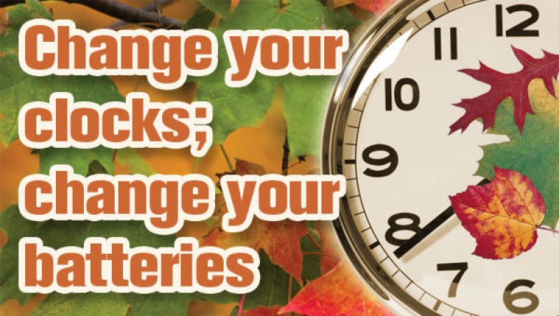 Fall Back on Sound Advice: Time to Change Your Clock AND Your Smoke Alarm Batteries